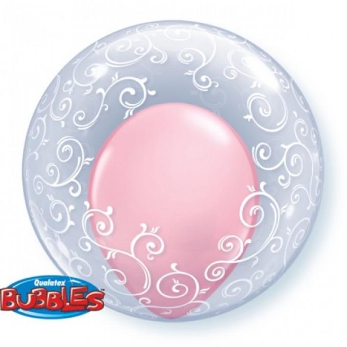 Bubble Transparente Filigrama 61 cm