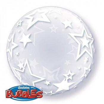 Bubble Transparente Estrelas 61 cm