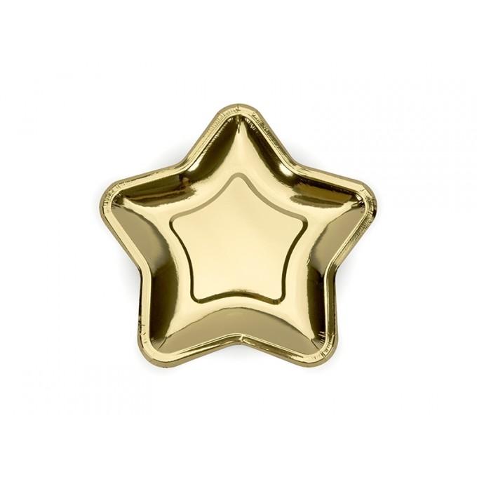 Pratos Estrela Dourado - Pack 6