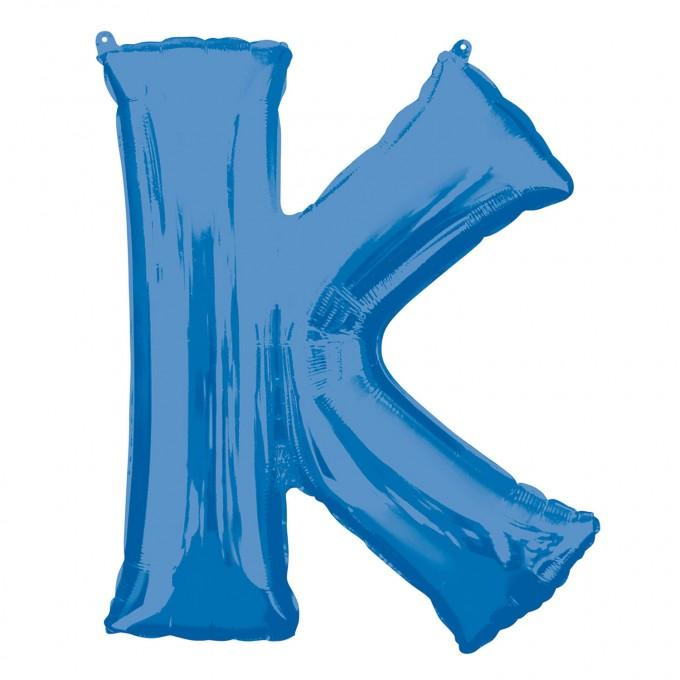 Balão Letra K Azul - 86cm