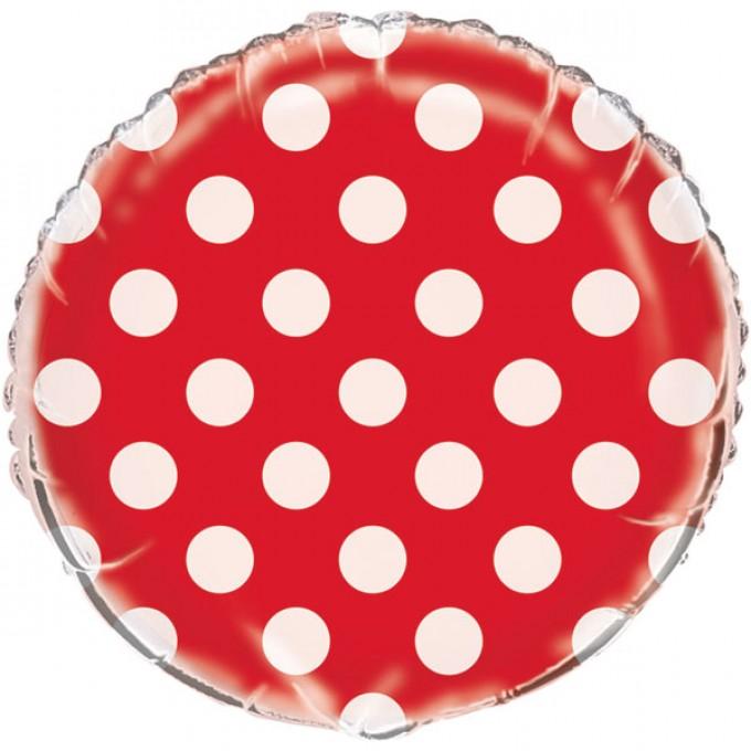 Balão Vermelho com Bolas Brancas