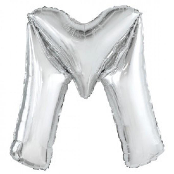Balão Letra M Prata - 86cm