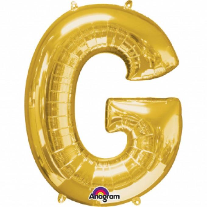 Balão Letra G Ouro - 81cm