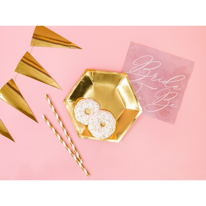 Pratos dourado 20cm - Pack 6