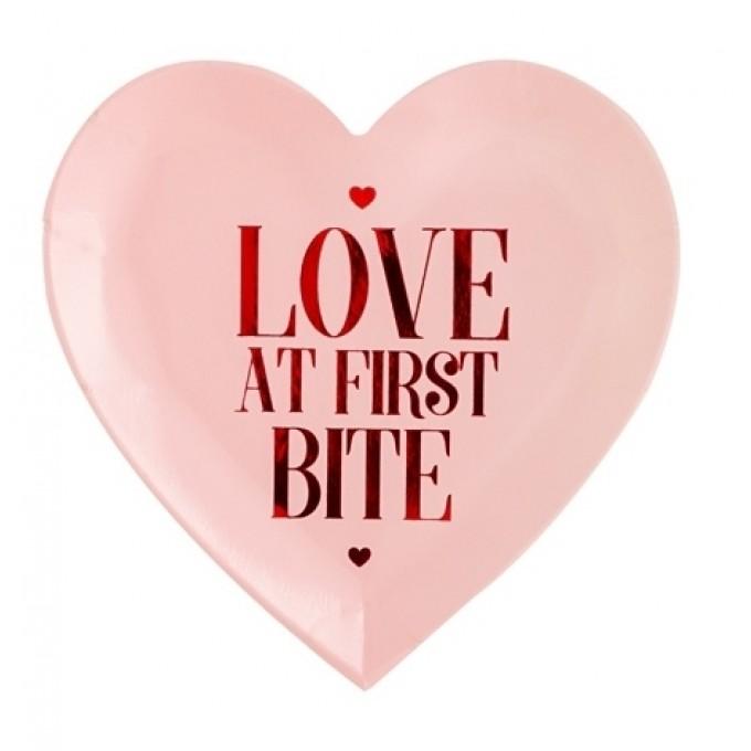 """Pratos coração """"Love at first bite"""" - Pack 6"""