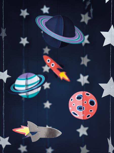 """Espaço """"SPACE PARTY"""" Decoração Tecto"""