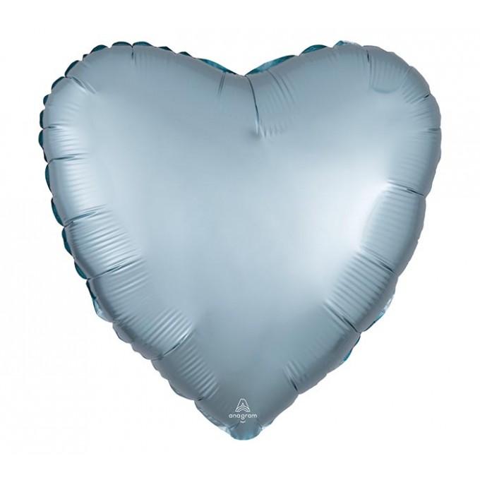 Balão Coração Azul Pastel - 43cm