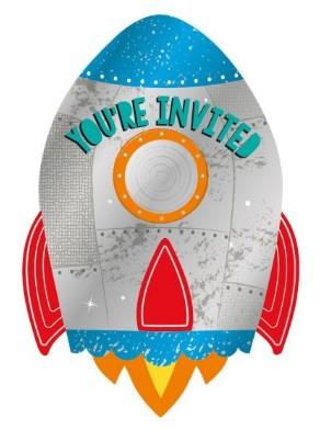 Nave Foguetão do Espaço Convites