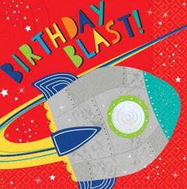 Blast Off Birthday! Guardanapos - 33cm
