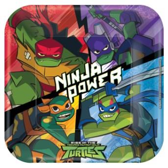 Tartarugas Ninja Pratos 23cm - Pack 8