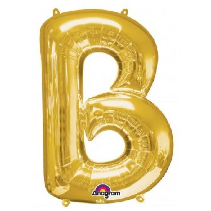 Balão Letra B Ouro - 86cm