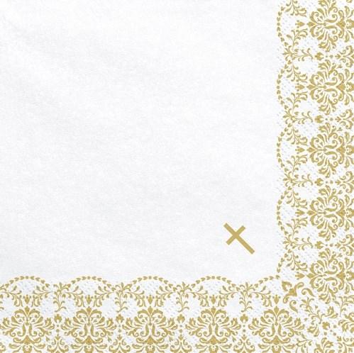 Guardanapos Cruz Ouro - Pack 20