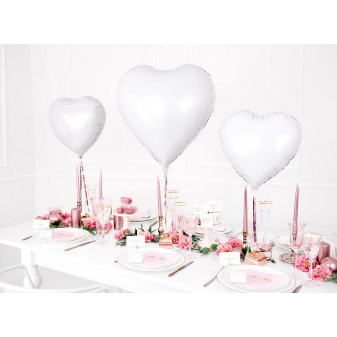 Balão Coração Branco - 45cm