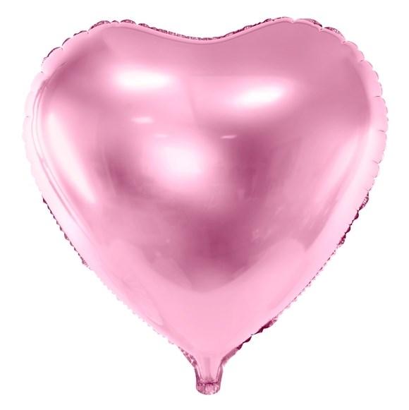 Balão Coração Rosa Claro - 61cm