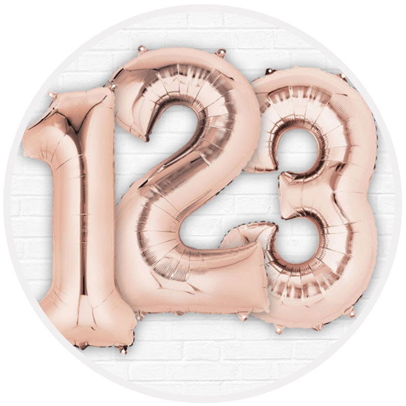 Balões Números