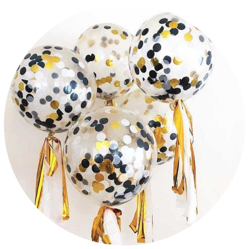 Balões com Confetis