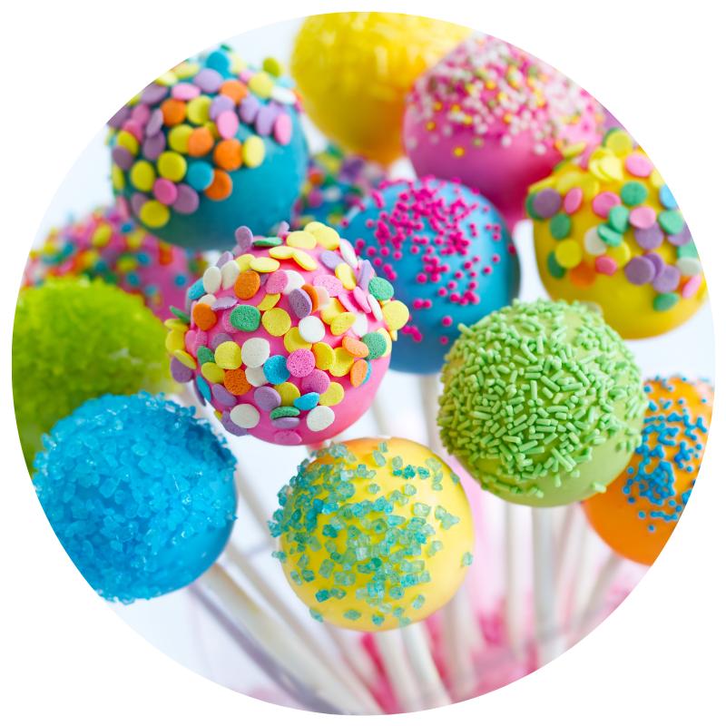 artigos para decoração de bolos e cake pops