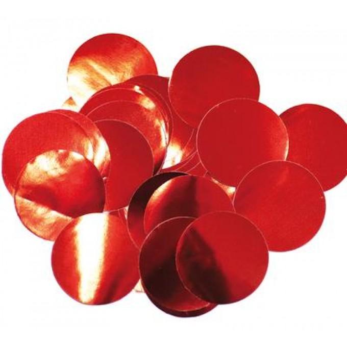 bg648371 Oaktree Metallic Foil Confetti 25mmx50g Red