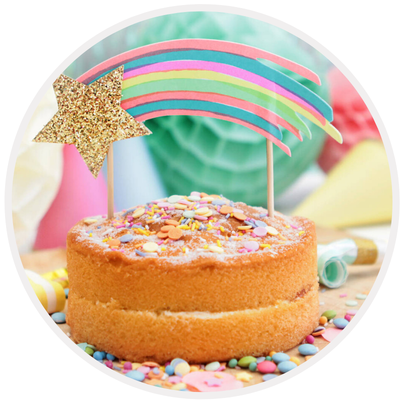 Topos de bolo para festas