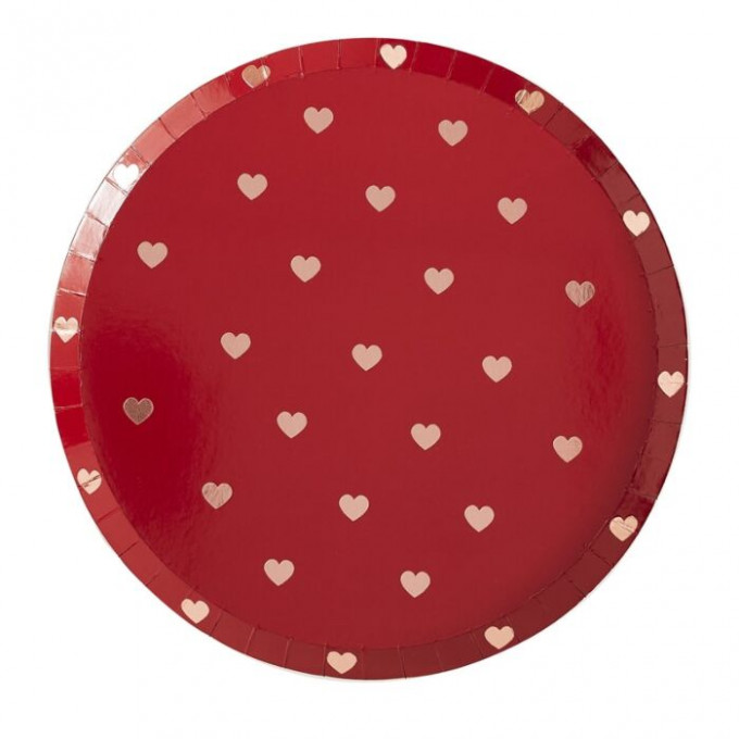 hg 303 red plate with rose gold foiled hearts   cut out min