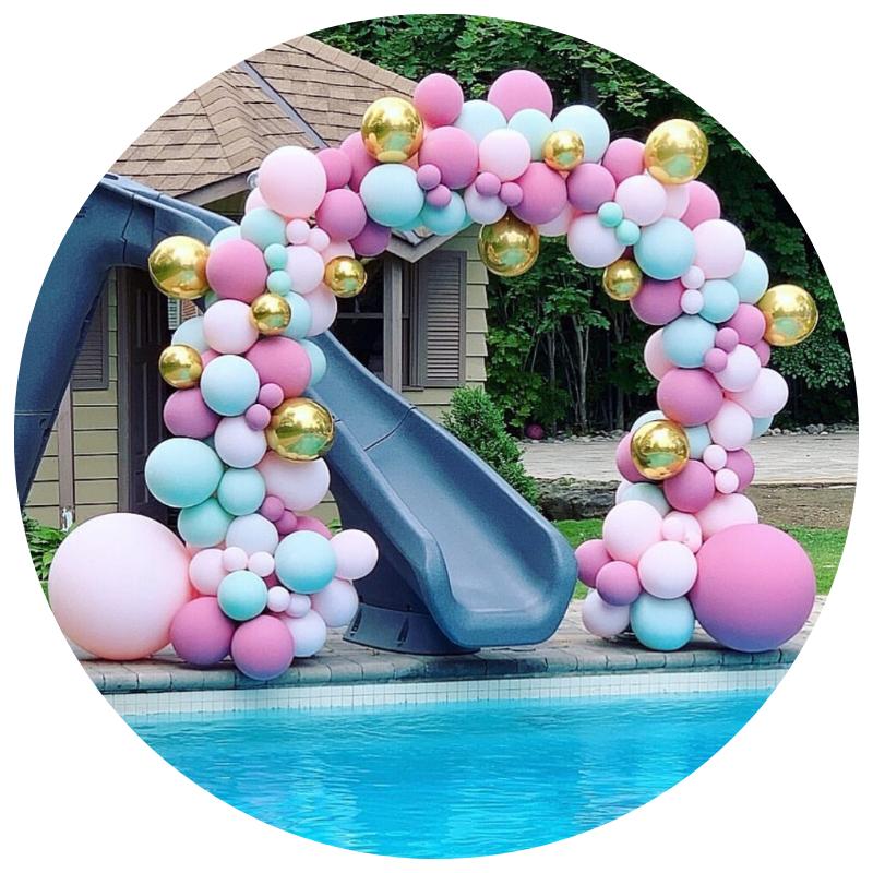 Decoração de festa com Arcos de Balões