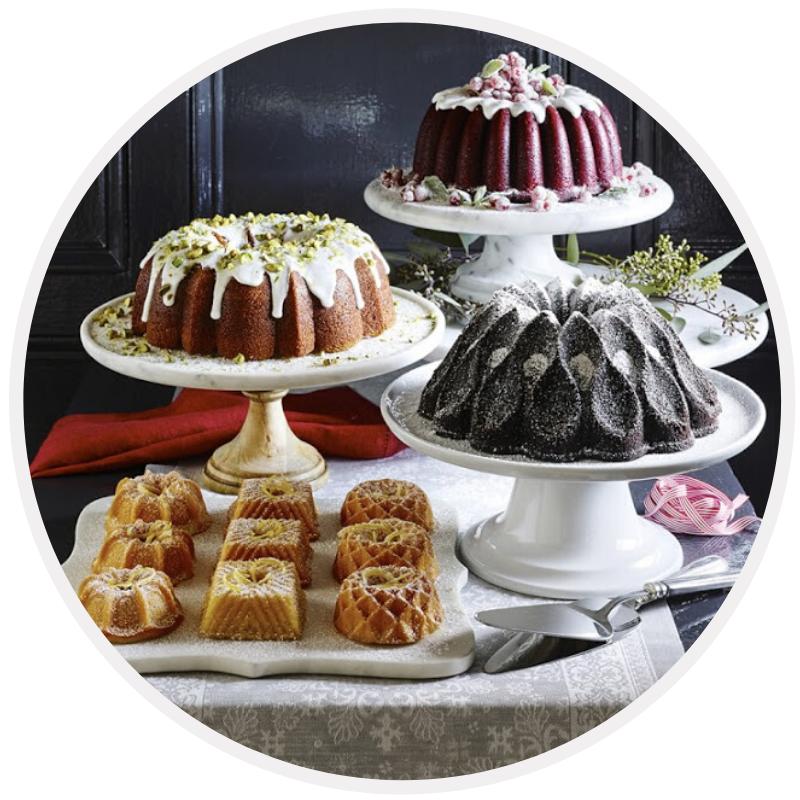Formas para decoração de bolos Nordic e cake design