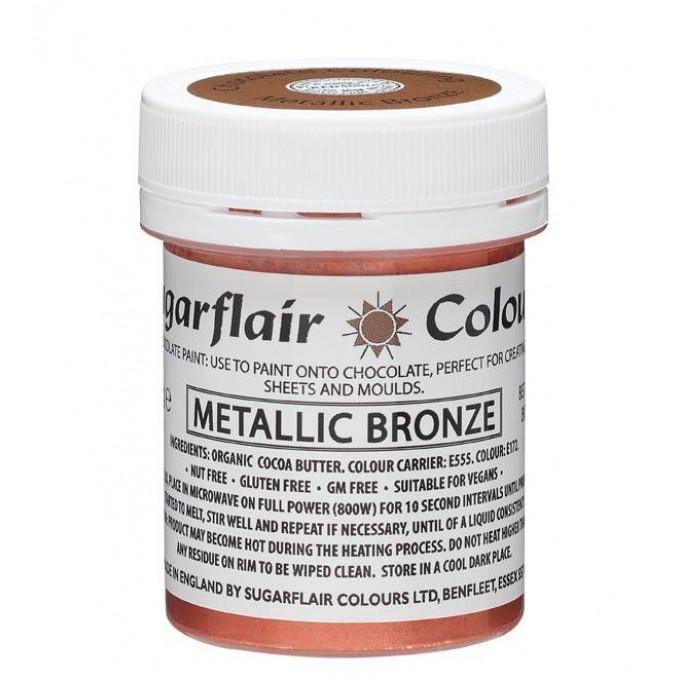 Corante Chocolate Paint Sugarflair Metalico Bronze 35Gr 1