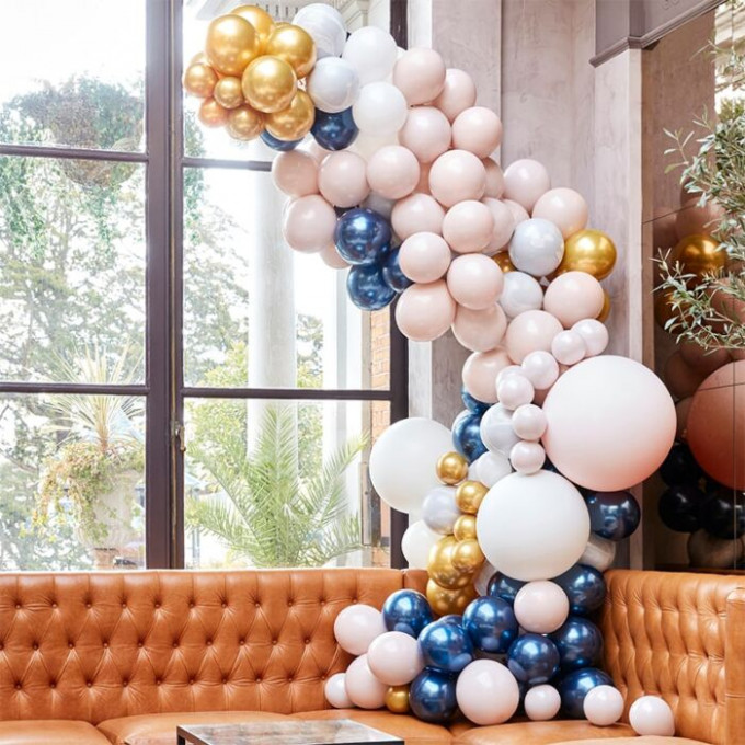 ba 324 large marble grey and gold chrome balloon arch min