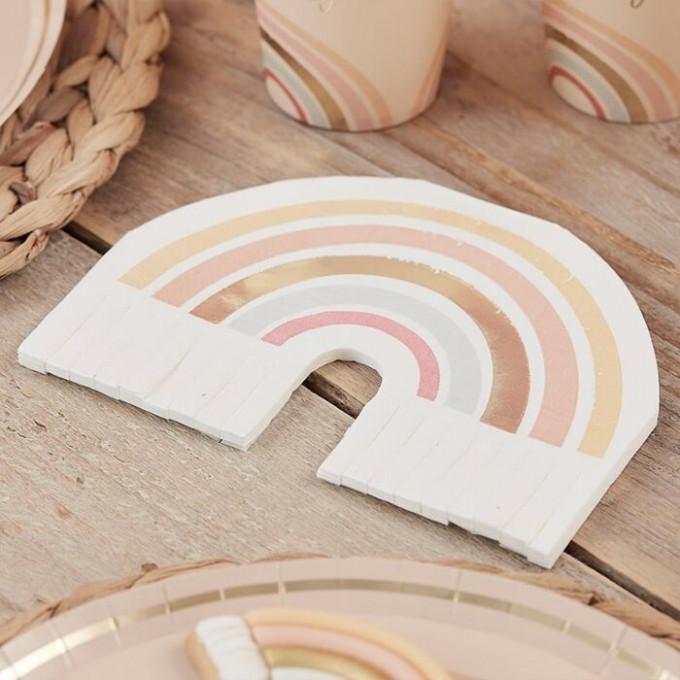 hap 114   gold foiled rainbow fringe napkins min