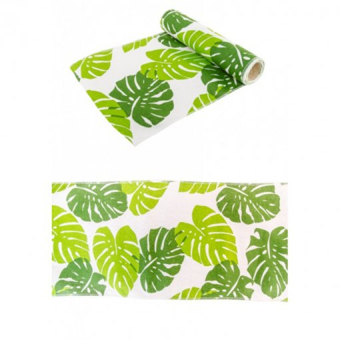 printed leaf tbale runner 28cmx3m20210524014715 listagem