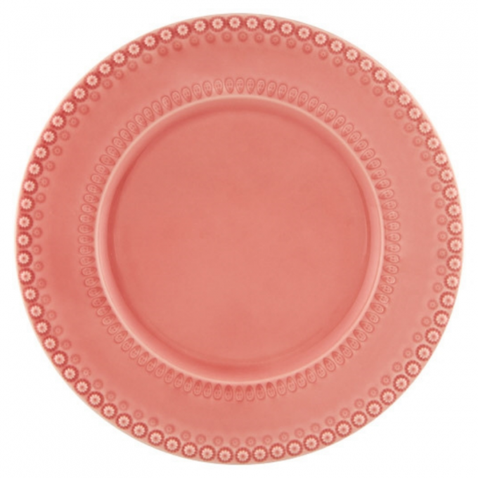 prato grande marcador de bolo bordalo pinheiro rosa