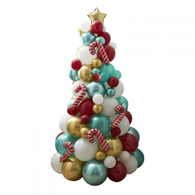 mry 106   novelty candy cane balloon tree   cut out copy
