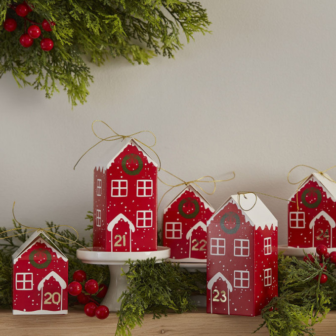 red 557   fill your own festive house advent boxes
