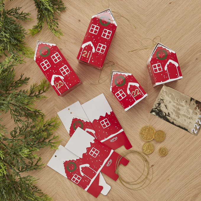 red 557   fill your own festive house advent boxes v2