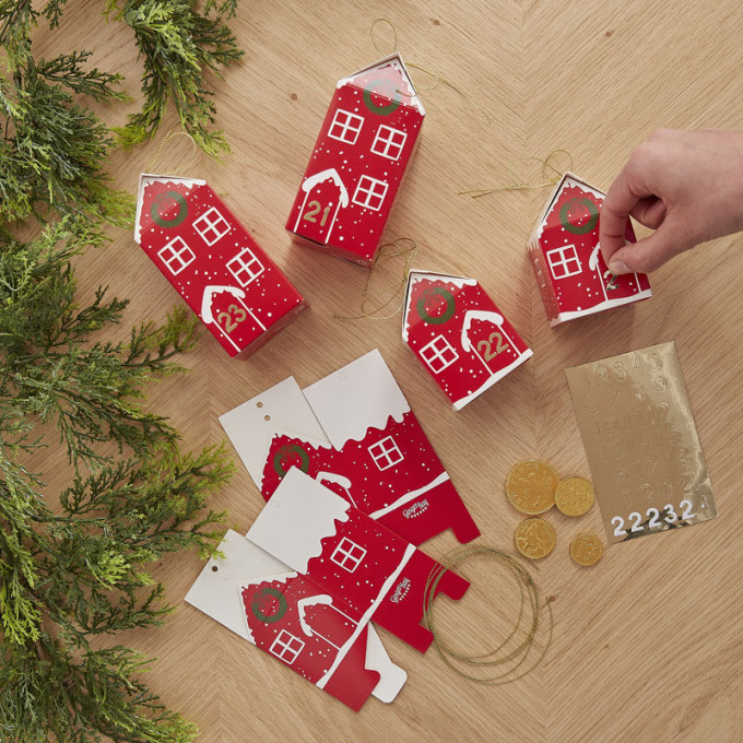 red 557   fill your own festive house advent boxes v3